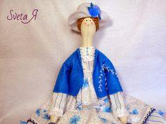 ΥΠΕΡΟΧΕΣ ΔΗΜΙΟΥΡΓΙΕΣ: Кукла  в стиле тильда Леди в бирюзовом