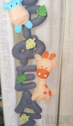 A Felt Name Banner for baby Orfeas! #wip Ένα τσόχινο bannerάκι για τον μικρό Ορφέα! #wip  #everglowe