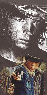 Carl- The Walking Dead Fan Art - (GIF IMAGE - Click to view Animation)