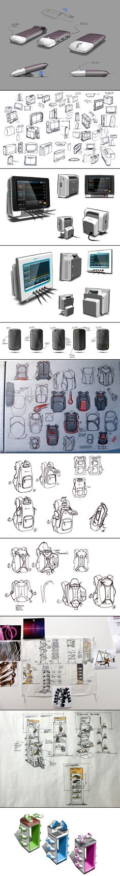 This is a compilation of various sketches and sketch rendering from several different projects. Jake Childs - created via http://pinthemall.net