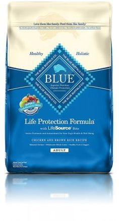 Blue Buffalo Life Protection Formula Adult Small Bite Dog Food - Natural Dry Dog Food for Adult Dogs - Chicken and Brown Rice - 30 lb. Best Organic Dog Food, Best Dry Dog Food, Food Dog, Best Dog Food Brands, Best Puppy Food, Holistic Dog Food, Chicken And Brown Rice, Chicken Rice, Blue Chicken