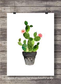 Printable art #Cacti art print #Watercolor #cactus #Handpainted  #printable #art #printableart #etsy #handmade #newzealand #newzealandartist #homedecor #wallart #digitalart #interiordecor # smallbusiness #abmlifeiscolorful # illustration # shopsmall #creativelife #dscolor #artprint #craftsposure