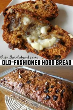 Old-Fashioned Hobo Bread - The Southern Lady Cooks recipes backen backen rezepte bread bread bread Quick Bread Recipes, Baking Recipes, Dessert Recipes, Desserts, Breakfast Bread Recipes, Breakfast Ideas, Breakfast Healthy, Breakfast Muffins, Healthy Recipes