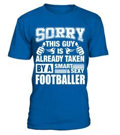 FOOTBALLER Shirt for Boy Friend or Husband FOOTBALLER Couple Valentine T Shirt