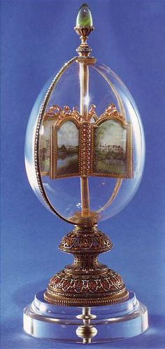 ROCK CRYSTAL EASTER EGG Faberge Easter Egg from 1896. Also known as Revolving Miniatures Egg.