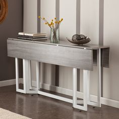 Holly & Martin Driness Drop Leaf Dining / Console Table & Reviews | Wayfair