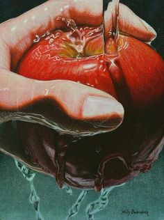 Still Life Sabotage reproduction of colored pencil drawing by Holly Bedrosian