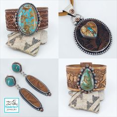 Recycled western leather belts and turquoise are the stars of this new collection of cuffs, pendants and earrings. Graphic Patterns, Leather Belts, Handcrafted Jewelry, Turquoise Bracelet, Silver Jewelry, Cuffs, Pendants, Stars, Detail