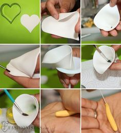 Gumpaste Calla Lily Flower Tutorial(How To Make Cake Fondant) Sugar Paste Flowers, Icing Flowers, Fondant Flowers, Clay Flowers, Lilies Flowers, Small Flowers, Fondant Icing, Fondant Cakes, Cupcake Cakes