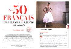 "Aurelie Dupont, Paris Opera director of dance, is in "" Les 50 français les plus influents du monde "" featured in Vanity Fair december edition, photographed by Hugues Laurent and styled by Felipe Mendes."