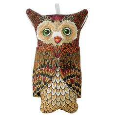 Owl Quilted Cotton Oven Mitt