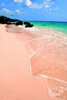 Pink Beach in Bermuda. #Dream #Places #Travel