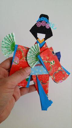 Origami Washi Ningyo traditional Japanese Kimono by www.facebook.com/kitspaperworld