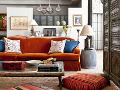 15 Colorful Reasons to Break From the Neutral Sofa: Prepare to transform your space. via @domainehome