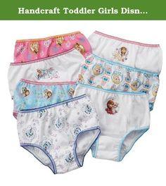 Handcraft Toddler Girls Disney Frozen 7 Pack Underwear - Size 2T/3T. Toddler girls Disney frozen 7 Pack underwear.