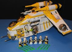 LEGO® STAR WARS™ 75021 PHASE I 327th Star Corps YELLOW REPUBLIC GUNSHIP CUSTOM #LEGO #CustomSet