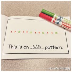 Teaching Patterning in FDK - Part 2 - A Pinch of Kinder Teaching Patterns, Math Patterns, Teaching Ideas, Patterning Kindergarten, Kindergarten Readiness, Math Classroom, Maths, Math Fractions, Math Games