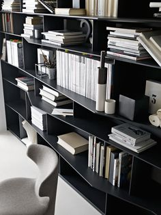 C -B&B Italia - Design of Antonio Citterio Cabinet Shelving, Bookcase Shelves, Display Shelves, Shelf, Cabinet Furniture, Furniture Design, Home Interior Design, Interior Decorating, Muebles Living
