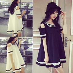 Buy 'QZ Lady – Cutout-Sleeve Contrast-Trim Babydoll Dress' with Free International Shipping at YesStyle.com. Browse and shop for thousands of Asian fashion items from China and more!