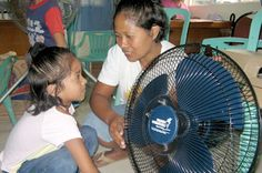Electric Fan in Quezon City    The 7,107 islands that make up the archipelago nation of the Philippines are located just north of the equator. This tropical climate features a generous sun, which shares its heat for most of the year. So when nine-year-old sponsored child Jasmin Fernandez of Quezon City received an electric fan for her Special Hug gift, her family thought that was pretty cool. Click image to read full article.