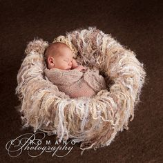 Stunning #newborn #baby #photography (with Fringe Pale Natural Look Newborn Nest Baby Blanket by BabyBirdz ) http://www.etsy.com/listing/66580001/fringe-pale-natural-look-newborn-nest