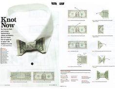 dollar bill origami bow tie | John Montroll's bow tie dollar bill origami, as shown in May 2012 ...