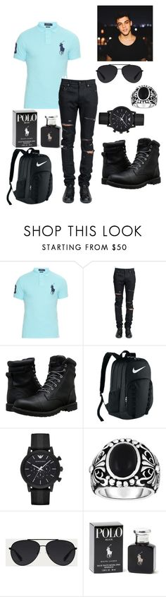 """""""Gray"""" by reemnagi45512 ❤ liked on Polyvore featuring Polo Ralph Lauren, Yves Saint Laurent, Timberland, NIKE, Emporio Armani, Phillip Gavriel, Bally, Ralph Lauren, Dolan and men's fashion"""