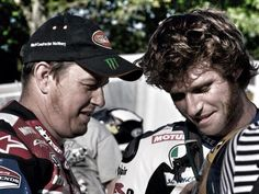 John McGuiness and Guy Martin two road race legends. As much as I love Guy, he has a long way to go to top Johns 23 race wins on the Island.