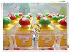 Caixa bloco cogumelo Mario Bros