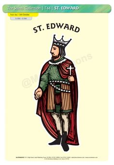 St. Edward - 13 October #SaintsDay A3 Poster (STP744)