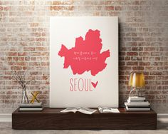 New to StyleScoutDesign on Etsy: Seoul map Print Seoul city Prints Korea map art Seoul Poster for office decor Seoul gift (5.44 USD)
