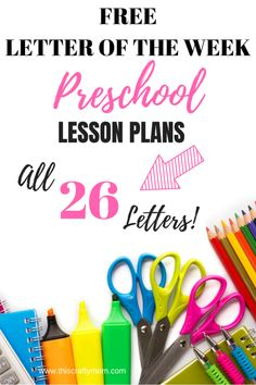 Free Letter of the Week Lesson Plans! Complete Series – … Free Letter of the Week Lesson Plans! Preschool Prep, Kindergarten Lesson Plans, Free Preschool, Preschool Lessons, Preschool Learning, Teaching Kids, Learning Activities, Preschool Curriculum Free, Pre K Lesson Plans