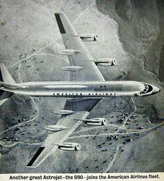 American Airlines Convair 990 Coronado - 1962 Print Ad. (Image: American Airlines)