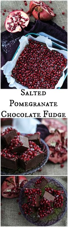 Salted Pomegranate Chocolate Fudge More