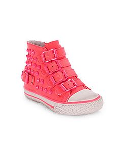 Toddler's Spiked High-Top Sneakers