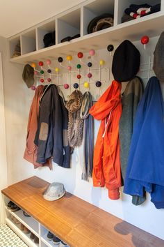 Always looking for ways to organise our entrance...maybe we need another Eames hang-it-all!