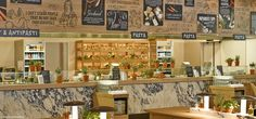 Vapiano restaurants have a good balance of modern and warm with lots of creative elements in their dining experience.