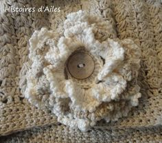 Crochet flower pattern (in french)
