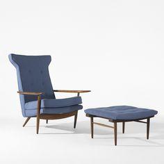 George Nakashima, Origins lounge chair and ottoman, 1958