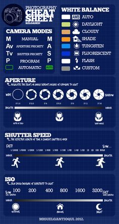 Photography Cheat Sheet--this is what you need if you want to get beyond automatic settings on your camera!