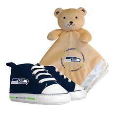 Seattle Seahawks NFL Infant Blanket and Shoe Set