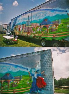 Dragon Themed Item-Side of Semi Truck Trailer