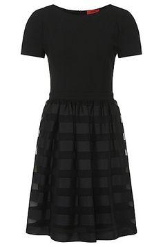 HUGO - Hugo Boss - Kleid mit gestreiftem Rockteil: 'Keryne'