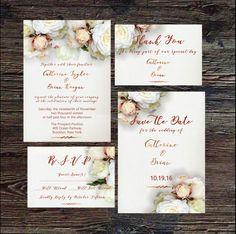 Wedding Invitation Template, Elegant Wedding Invitation, Wedding Invitation Card, Wedding Stationery, Printable Invitation, Invitation Kit by SeptemberCreationsAE on Etsy