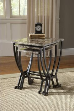 Shop Monaco Nesting Tables with great price, The Classy Home Furniture has the best selection of to choose from Furniture, Mattress Furniture, Nesting Tables, Metal Nesting Tables, Hillsdale Furniture, Table, Home Decor, Coffee Table, Cottage Wall Decor