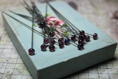 Hey, I found this really awesome Etsy listing at https://www.etsy.com/listing/216466551/2-antique-deep-violet-glass-hat-pins