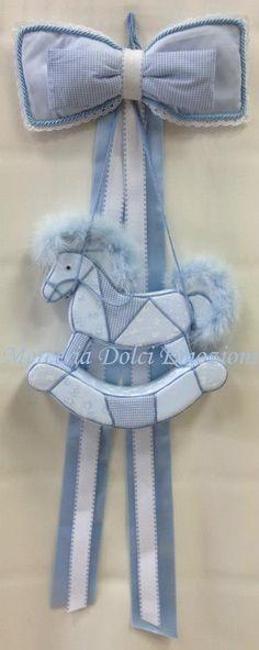 Fiocco nascita cavallo a dondolo... #Merceria #DolciEmozioni #FioccoNascita #CavalloADondolo