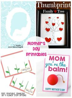 20 Mother's Day Gifts and Printables - I love these printables!