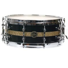Gretsch 5.5x14 Gold Series Maple Snare Drum Black maple w/Vintage Glass Inlay Limited Edition