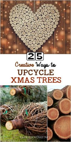 There's a lot of creative craft and decor ideas hiding in that old Christmas tree! Come see what you can make for your home and garden using discarded xmas trees.